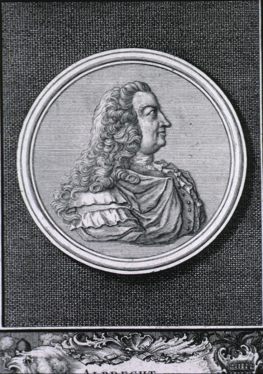 <p>Medallion on tablet; head and shoulders, right profile.</p>
