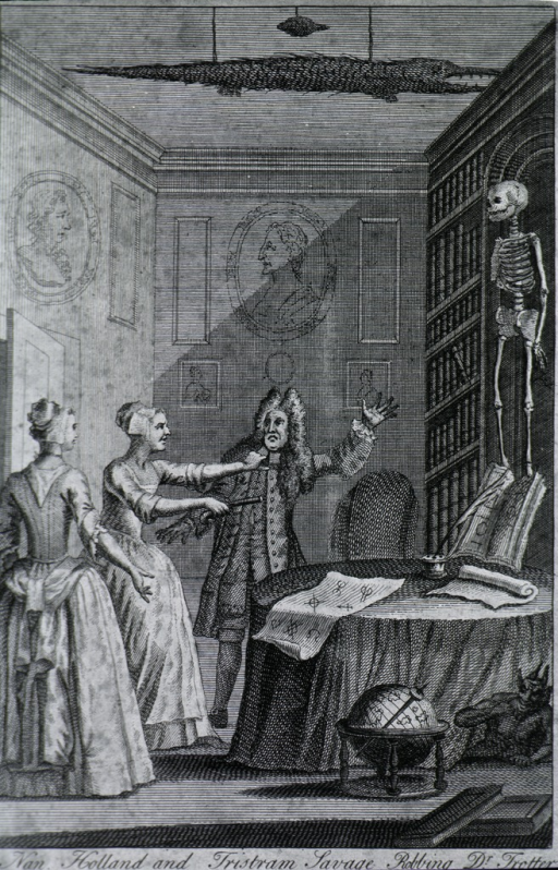<p>The doctor in group with Nah Holland and Tristram Savage rubbing Dr. Trotter in Moorfields.</p>