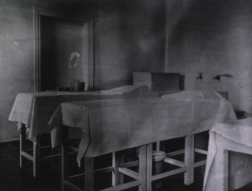 <p>The interior of the surgical dressing room at Military Hospital No. 1.</p>