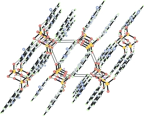 The crystal structure of (I), viewed along the c axis.