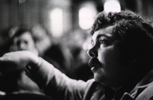 <p>Showing Dr. Herbert Boyer at the Asilomar Conference, 1979.</p>