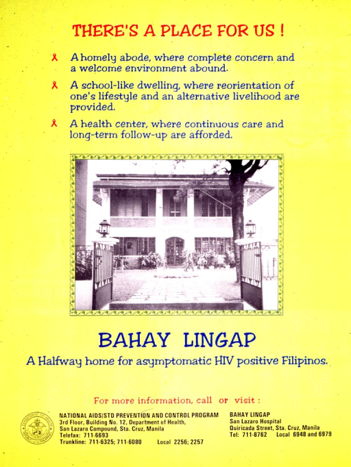 <p>Predominantly yellow poster with multicolor lettering.  Title at top of poster.  Visual image is a reproduction of a b&amp;w photo of a large house and garden.  Caption below photo.  Publisher information in lower left corner.</p>