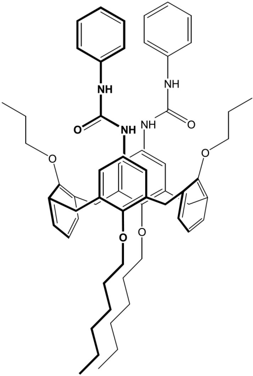 The structure of diureidocalix[4]arene.