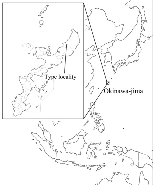 Map showing the type locality of Teinotarsinaaurantiaca sp. n.