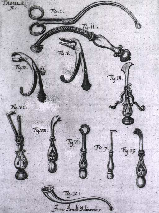 <p>Eleven different types of cannulas and forceps.</p>