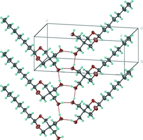 Hydrogen-bonded ribbon structure.