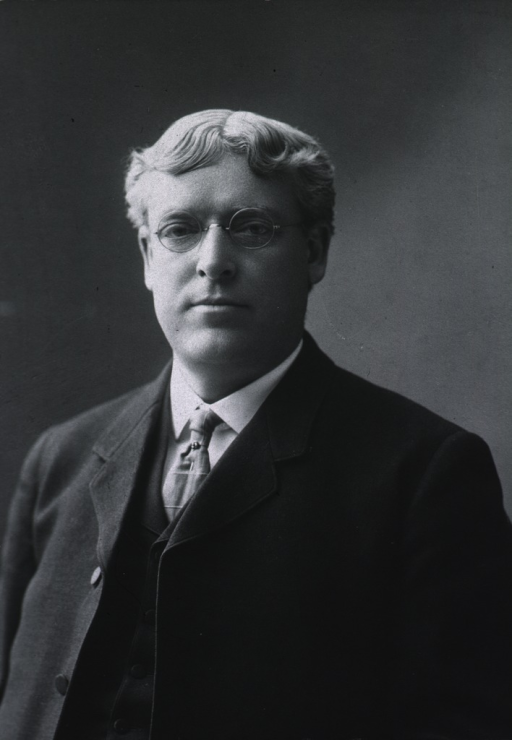 <p>Half length; front pose.  Wearing business dress and glasses.</p>