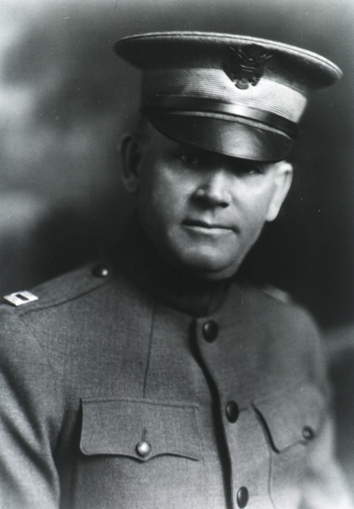 <p>Head and shoulders, front pose; in uniform and cap.</p>