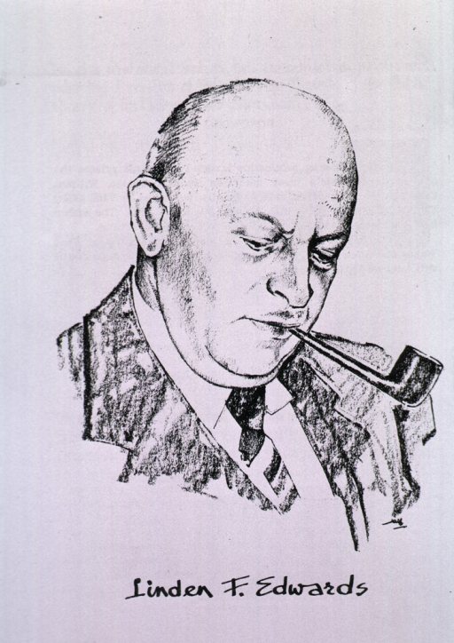 <p>Head and shoulders, smoking pipe.</p>