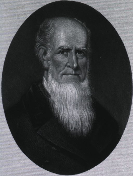 <p>Head and shoulders, as an old man.</p>