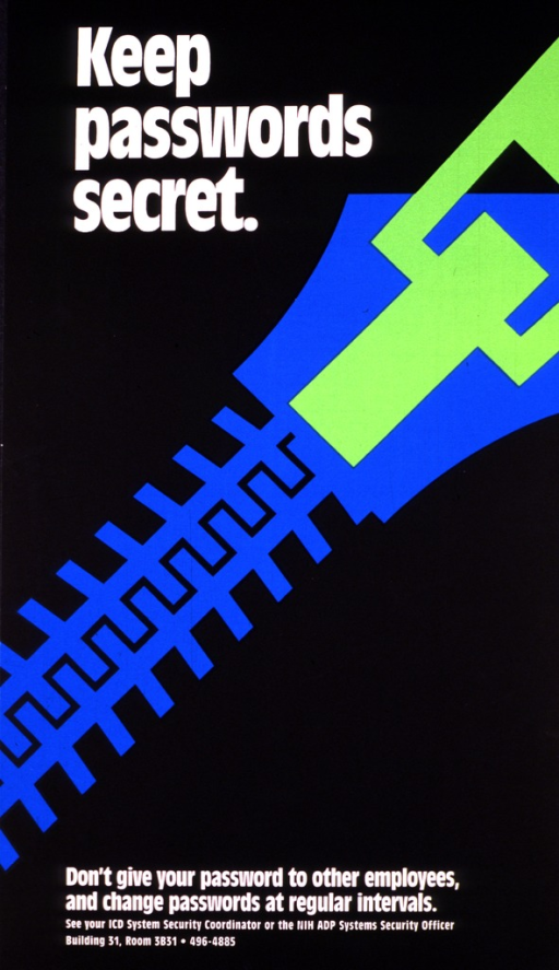 <p>Black poster with a large turquoise and green zipper running across it diagonally.</p>