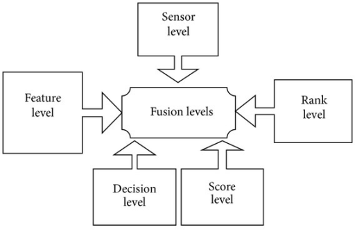 Levels of fusion in multimodal biometric systems.