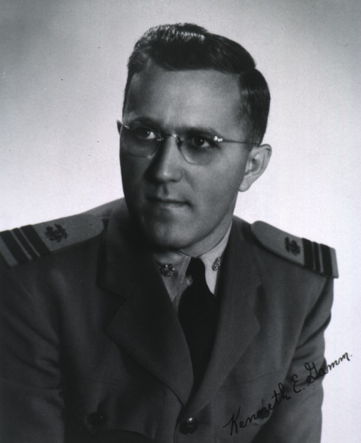 <p>Head and shoulders, turned slightly to the right, looking left, full face; wearing uniform.</p>