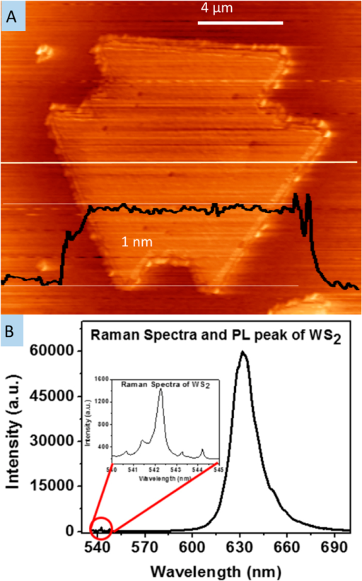 afm raman and pl of a step growth sample the afm scan open i