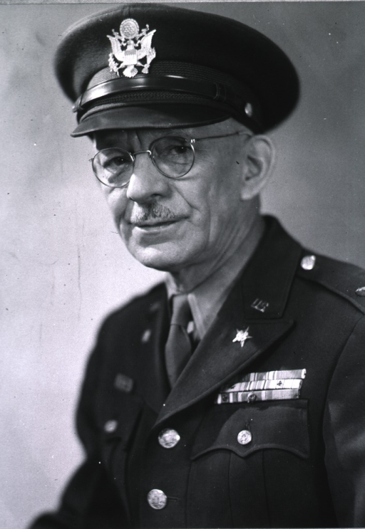 <p>Head and shoulders, full face, wearing U.S. Army uniform and cap (Colonel).</p>