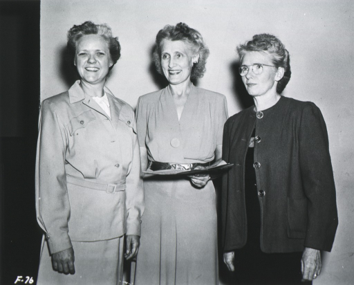 <p>View of three of the board members.</p>