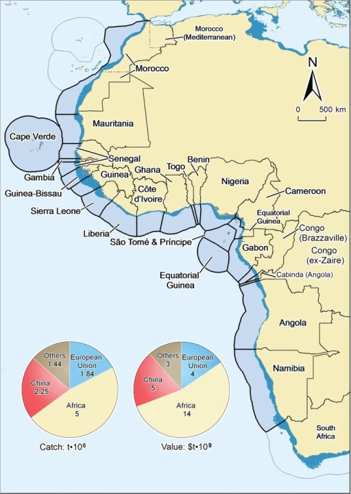 Exclusive economic zone waters of the west african coun open i exclusive economic zone waters of the west african countries considered here also showing the 2000 ccuart Images