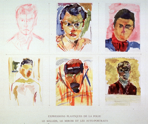 <p>Six self-portraits by mentally ill persons.</p>