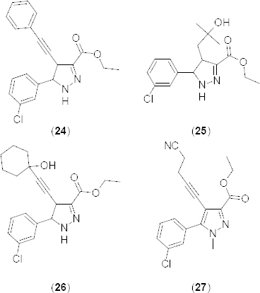 Analogues of ethyl 4,5-disubstituted-4,5-dihydropyrazole-3-carboxylate with PDE4B inhibitory activity