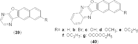 Structure of benzofuran analogues that showed promising PDE4B inhibitory activity