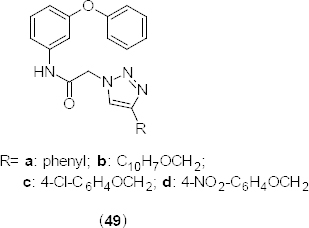 Structure of 1,2,4-triazole analogues that have PDE4B inhibition and anticancer activity