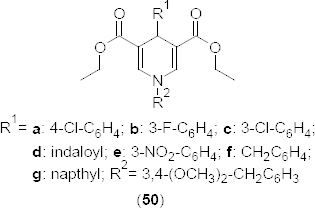 Structure of 1,4-dihydropyridine analogues that have Ca2+ channel blocking and