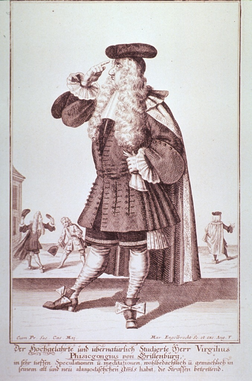<p>Caricature on the dress and manners of an 18th century physician.</p>
