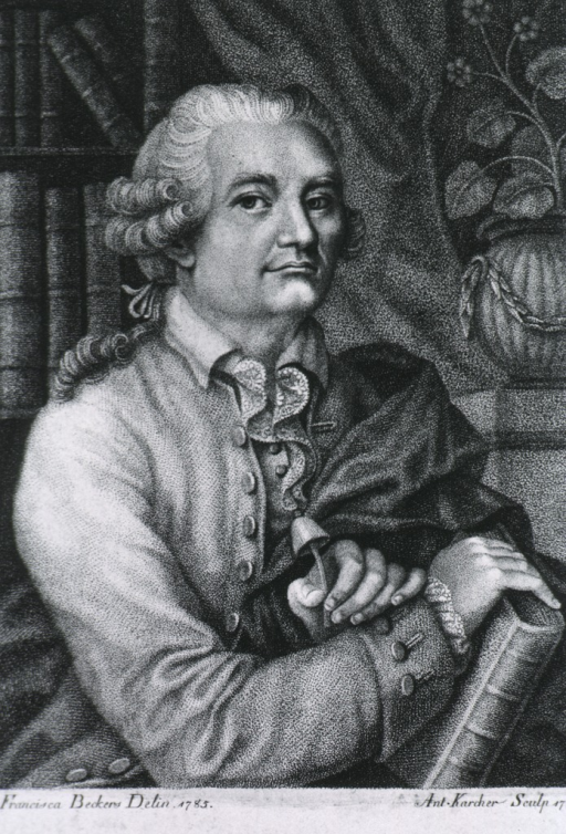 <p>Half length, seated in library, right pose, one hand resting on book; one holding mushroom.</p>