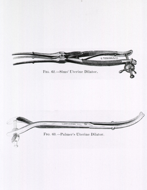 <p>Series of illustrations of different types of cervical dilators.</p>