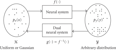 Neural system, neural dual system, input/output sample spaces andtheir statistical distributions.