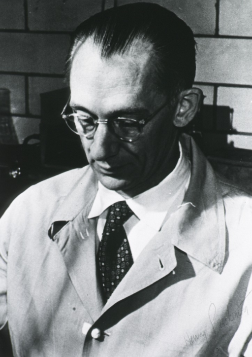 <p>Head and shoulders, full face, wearing laboratory coat.</p>