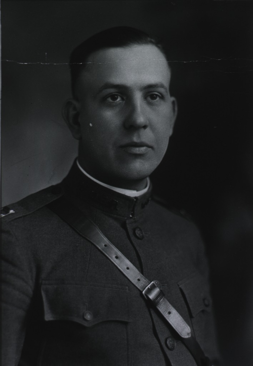 <p>In uniform, without cap.</p>