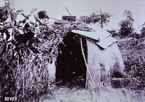 <p>Smallpox patients' tepee, which was burned after the removal of patient.</p>