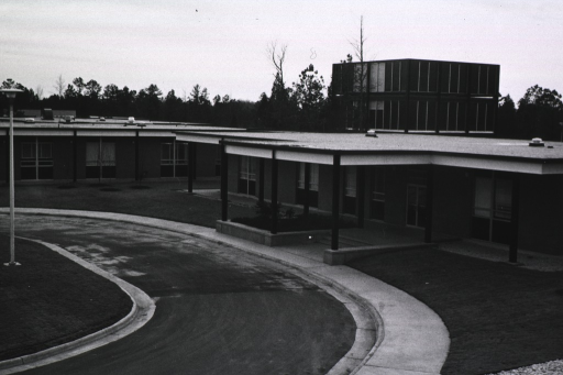 <p>Exterior view showing circular drive and front of building.</p>