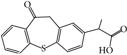 Structure of zaltoprofen.