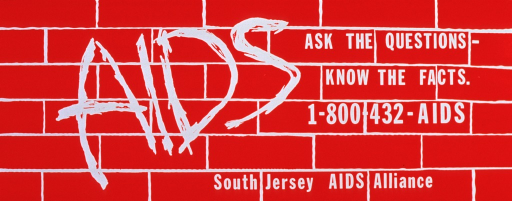<p>Red poster with white lettering.  Background on poster is suggestive of a brick wall.  Initial title word, on left side of poster, is made to look like graffiti. Remaining title words in standard font on right side of poster.  Phone number for the Alliance appears under remaining title words.</p>