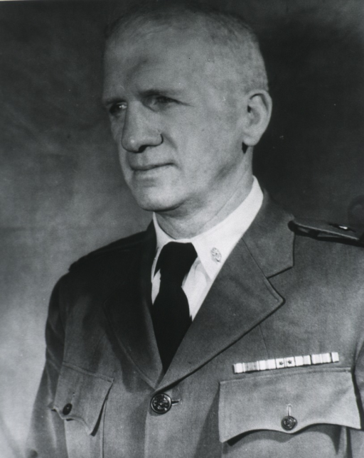<p>Head and shoulders, left pose; wearing uniform.</p>