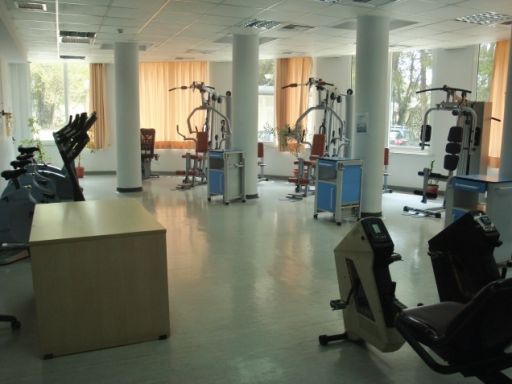 View of the Pulmonary Rehabilitation Unit at Athens University Medical School – First Department of Respiratory Medicine, Sotiria Hospital, showing necessary apparatus to administer hospital-based cardiopulmonary rehabilitation programmes.