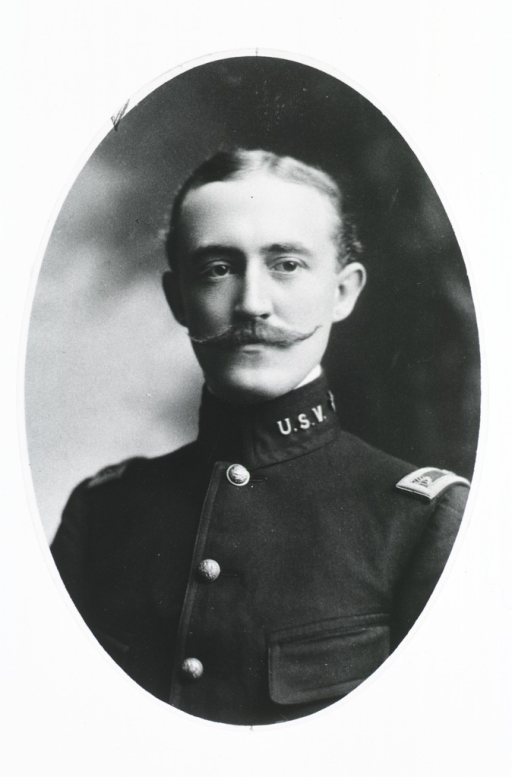 <p>Head and shoulders, front pose; in uniform; in oval.</p>