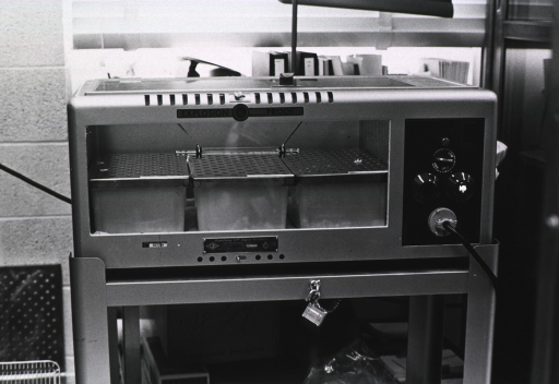 <p>Large incubator with glass front.</p>