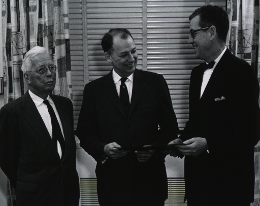 <p>Showing Dr. Shannon, Dr. Rolla Dyer, and Dr. Rollin Hotchkiss.</p>