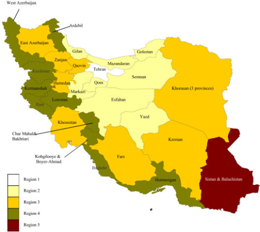 Modified Classification Of Iranian Provinces Based On S Openi - Literacy map us