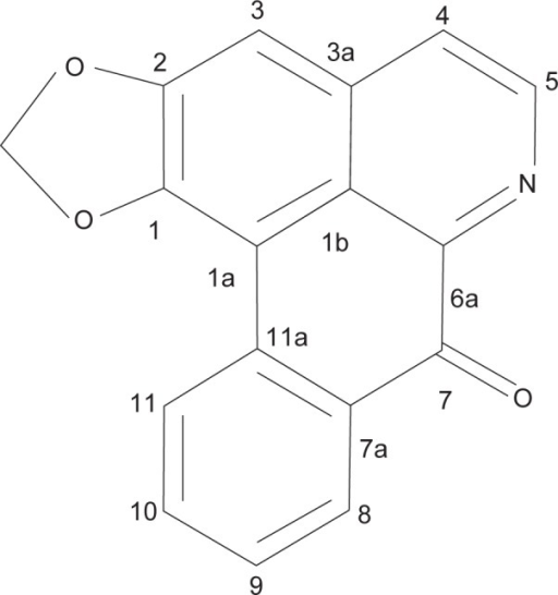 Structure of liriodenine.