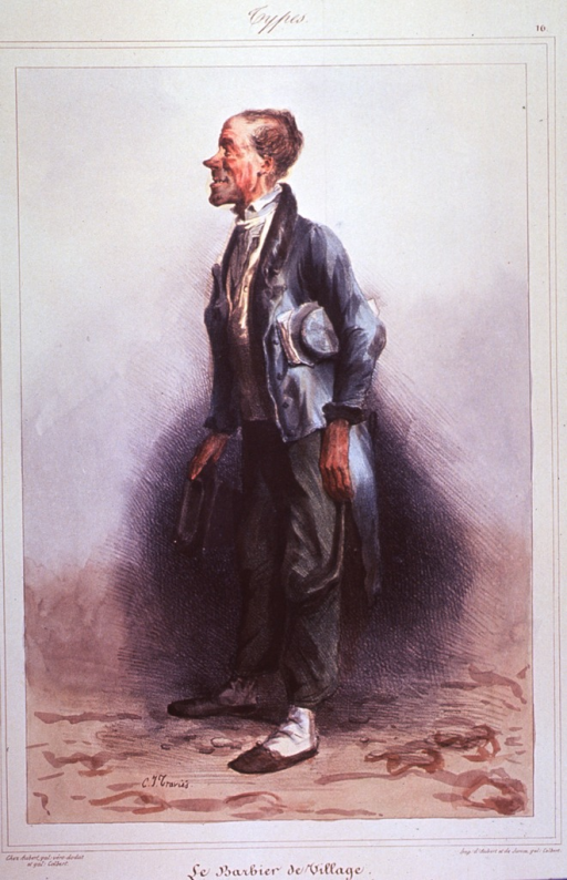 <p>Caricature of a typical barber.</p>