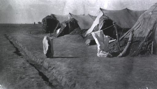 <p>A view of shelter tents at a Division Lazaret.</p>