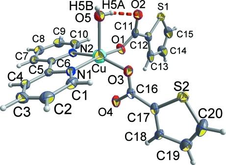 Asymmetric Molecular Unit Of Cuc4h3scoo2c10h8n2