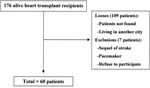 Patients flow throughout the study
