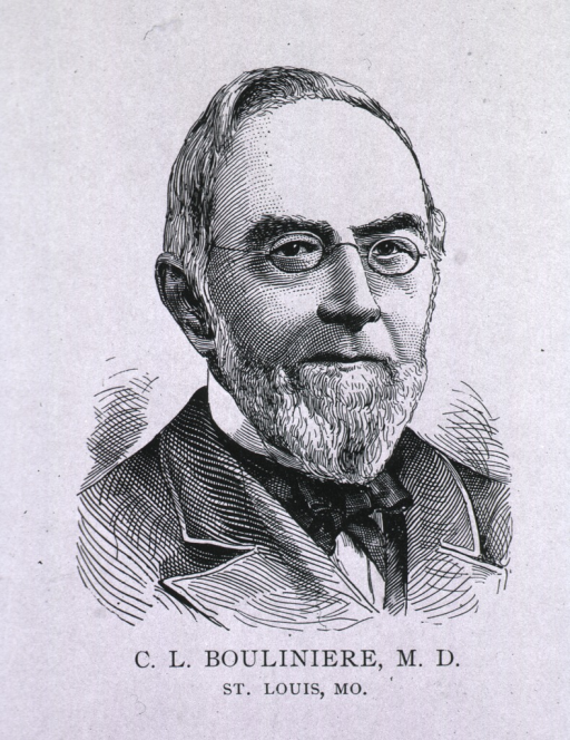 <p>Head and shoulders, face front, wearing glasses, pointed beard.</p>