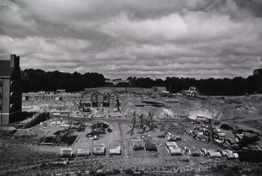 <p>Showing beginning phase of construction.</p>