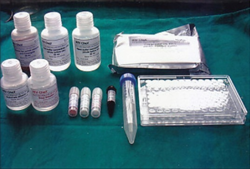 Reagents in HIV Chex kit